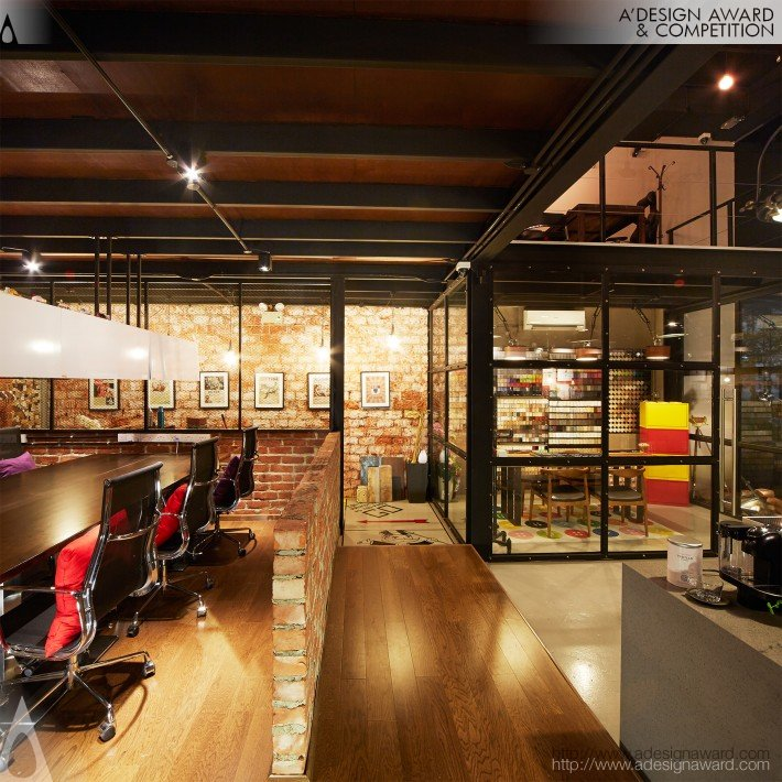 A 39 design award and competition the manhattan loft for Loft office design