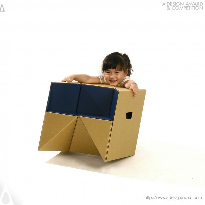 S-Cube (Stool, Child Chair, and Step Design)
