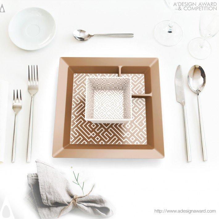 One-Handed Plate Set (Tableware Design)