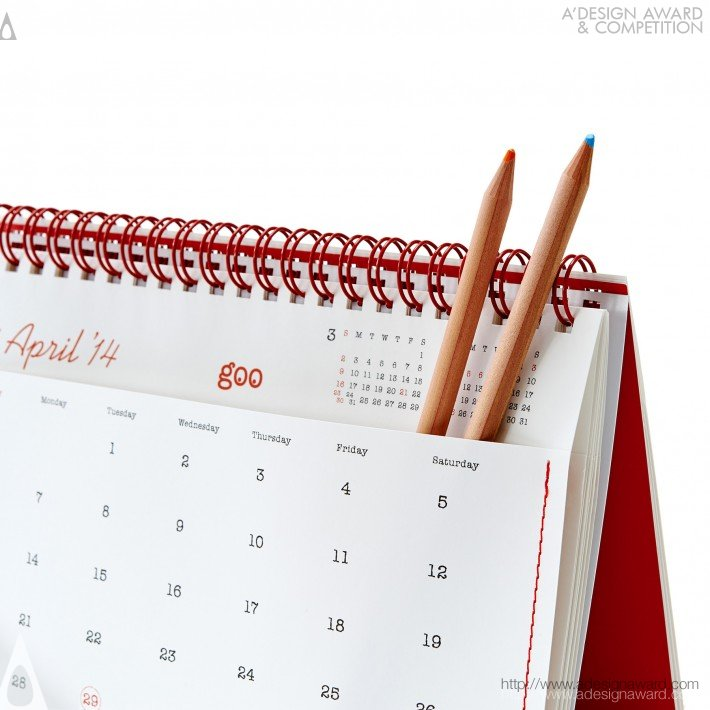"17th Goo Calendar ""12 Pockets 2014"" (Calendar Design)"