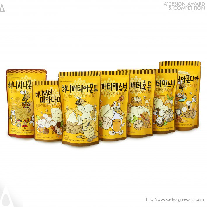 Nuts Snack Series Packages by Jung Eun Yang