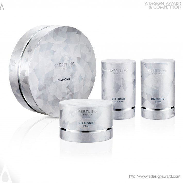Haertling Cosmetics-Diamond Cream High Fashion and Luxury Packaging by Theresa Lambrecht