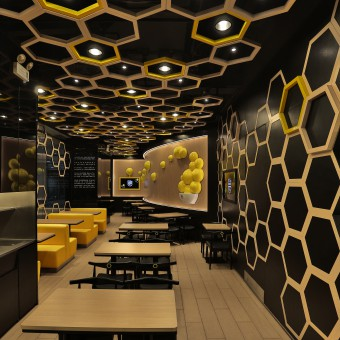 Rice home fast food restaurant for Quick home bar design ideas