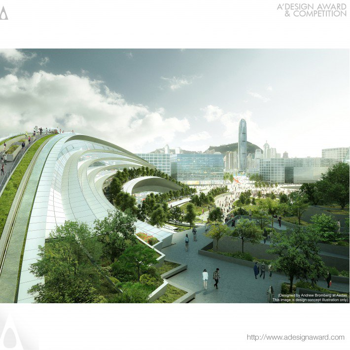 Express Rail Link West Kowloon Terminus Public Transportation by Andrew Bromberg at Aedas