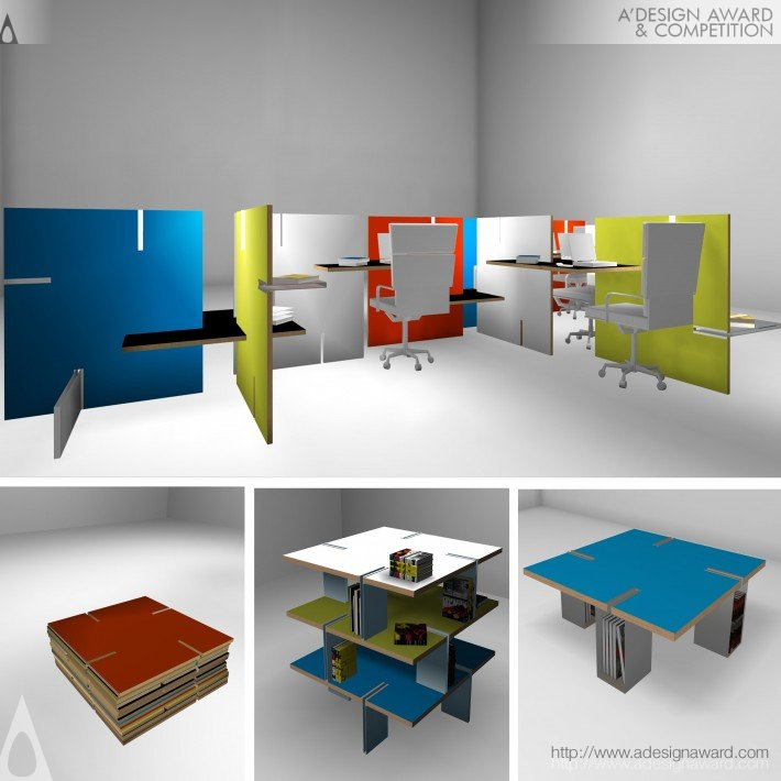Bojo Multi Function Modular Furniture By Helen Brasinika