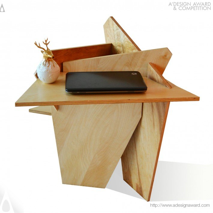 Joyce Chan - The Origami Rose Multifunctional Table