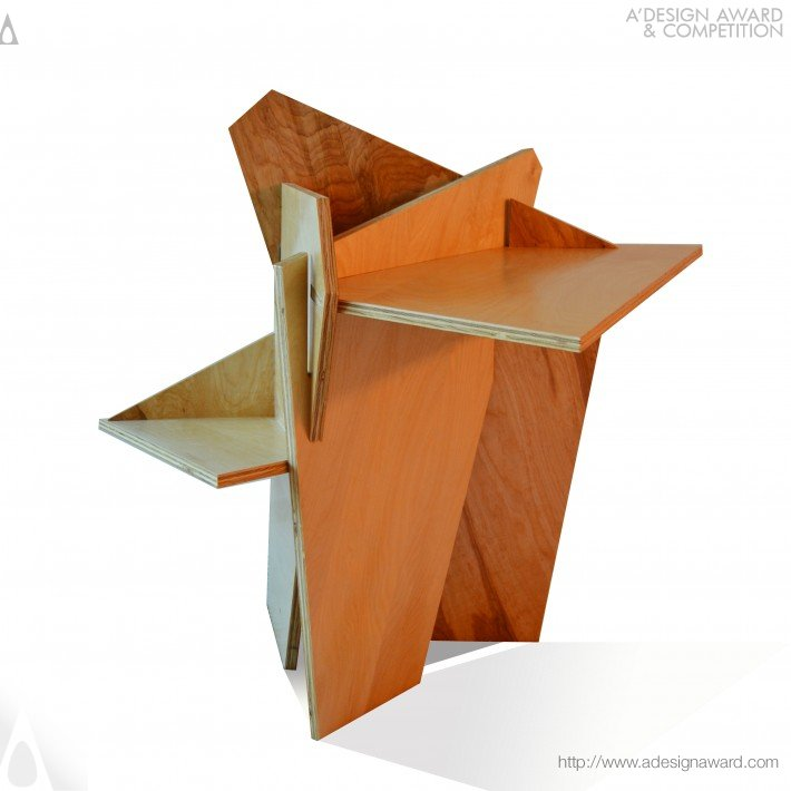 The Origami Rose Multifunctional Table by Joyce Chan