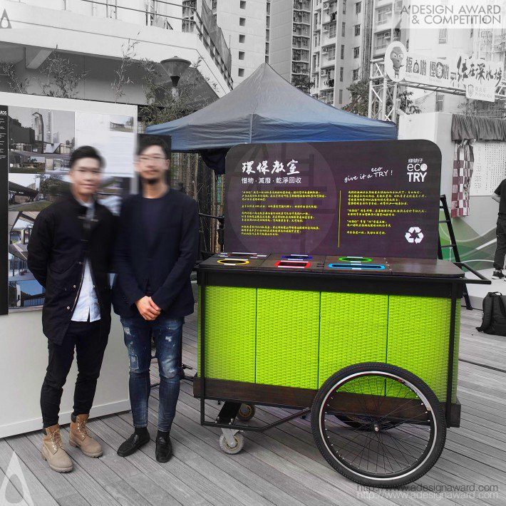 Ecotry Flexible Recycling Point by Alex King