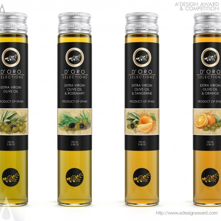 D'oro (Extra Virgin Olive Oils Range Design)