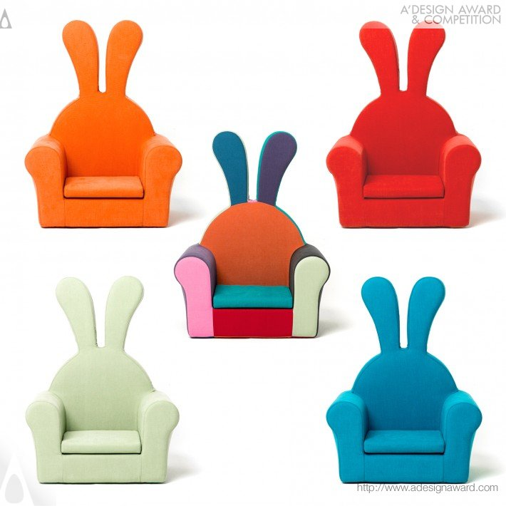 Honeydew Rabbit (Baby Soft Chair (couch) Design)
