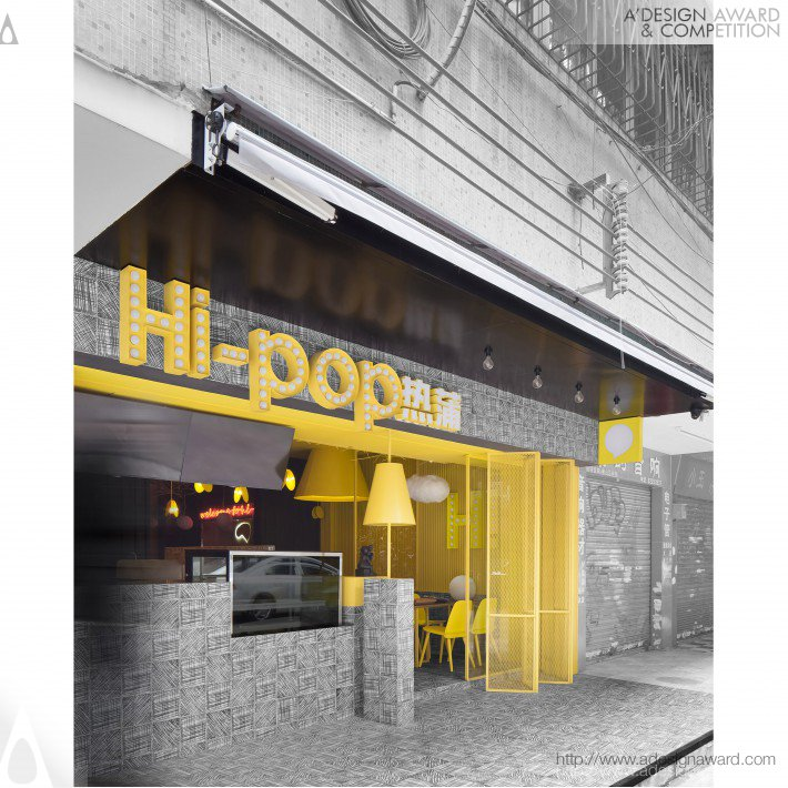 Hi-Pop Tea Concept Store by Yalin Zhang