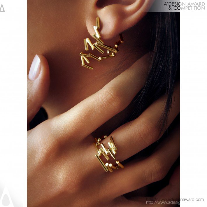 Mouvant Collection (Earrings and Ring Design)