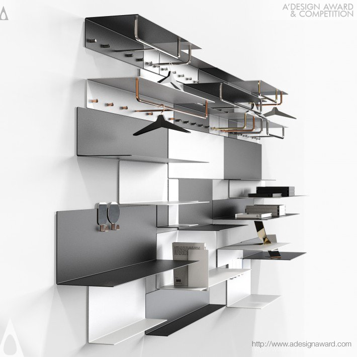 Bonnelycke mdd Shelf and Wardrobe System