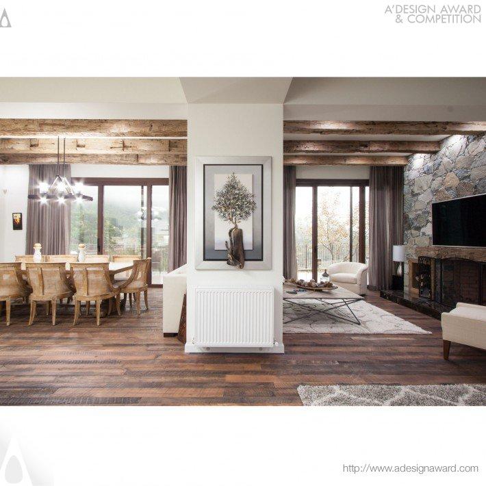 mountain hill chalet by irini papalouka interior architect - Environmental Interior Design