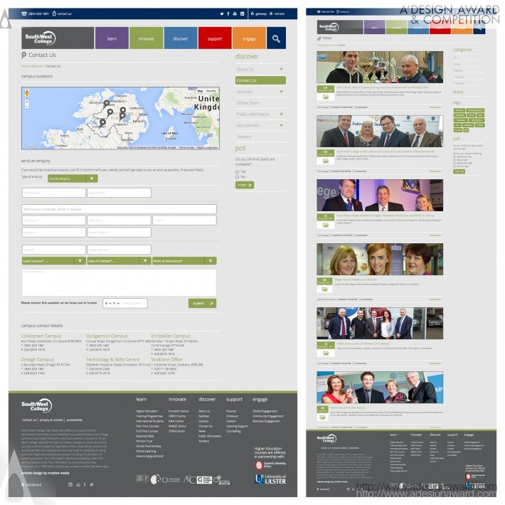 South West College (E-Learning Website Design)