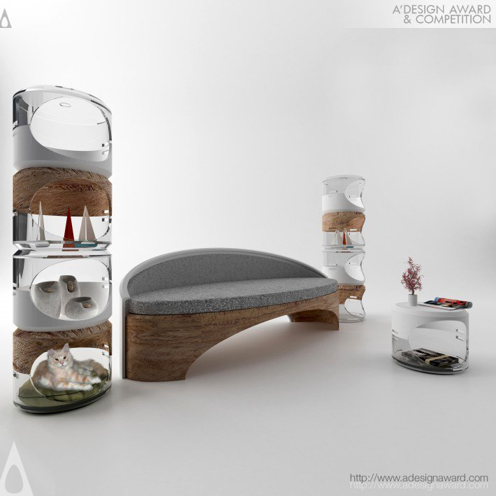 Capsular Multi Functional Stool and Office Bench by Harun AYAYDIN