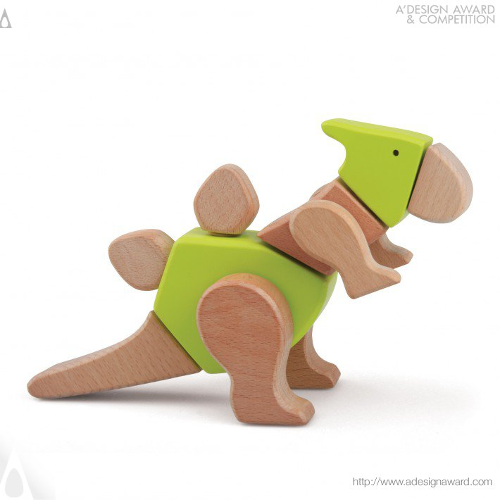 My Dino Series (Modular Wooden Toy Design)
