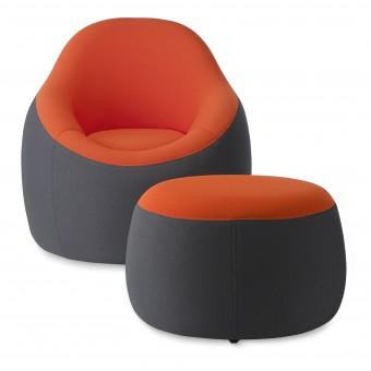OMO Modern Chair and Ottoman Chair and Ottoman