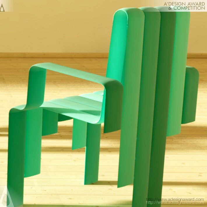 A 39 design award and competition waterfall chair and for Waterfall seat design