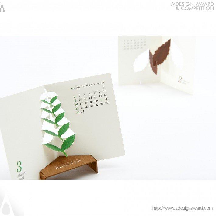 "Calendar Typography Life : Calendar ""botanical life design"