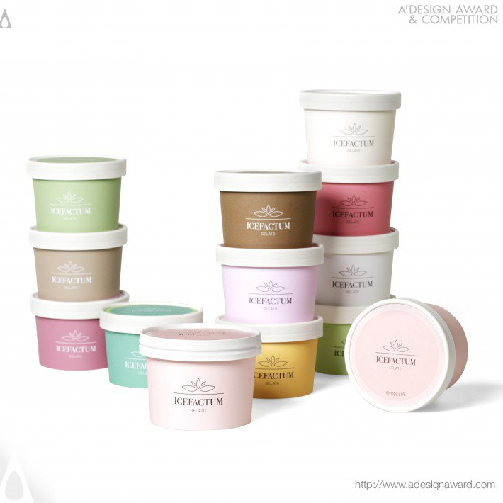 Icefactum Cups (Take Away Packaging Design)
