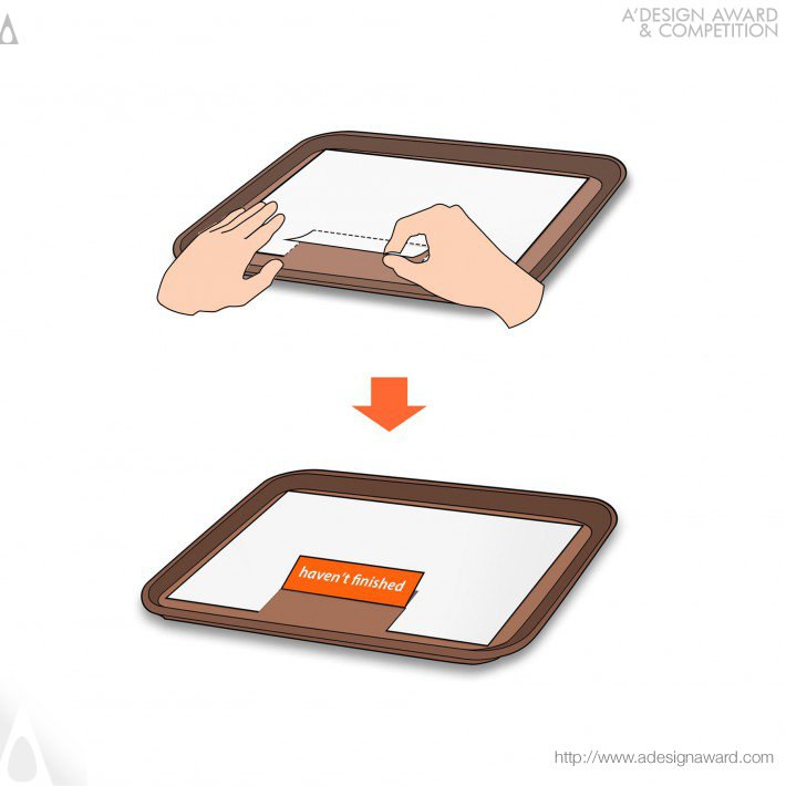 Fold to Hold (Paper Tray in Restaurant Design)
