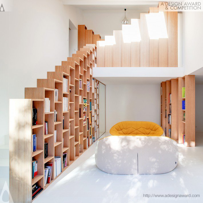 The Bookshelf House Interior Renovation of a Private House by Andrea Mosca