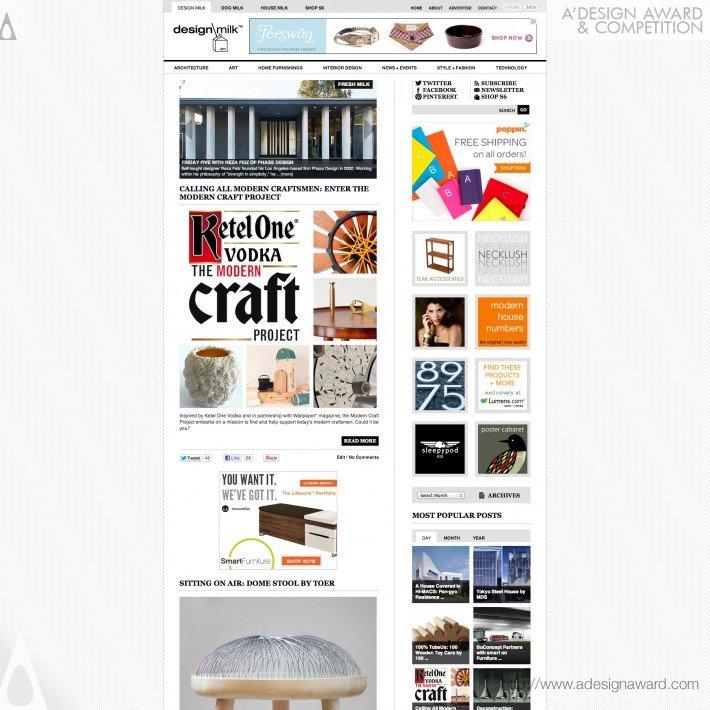 . A  Design Award and Competition   Design Milk Online Magazine Press Kit