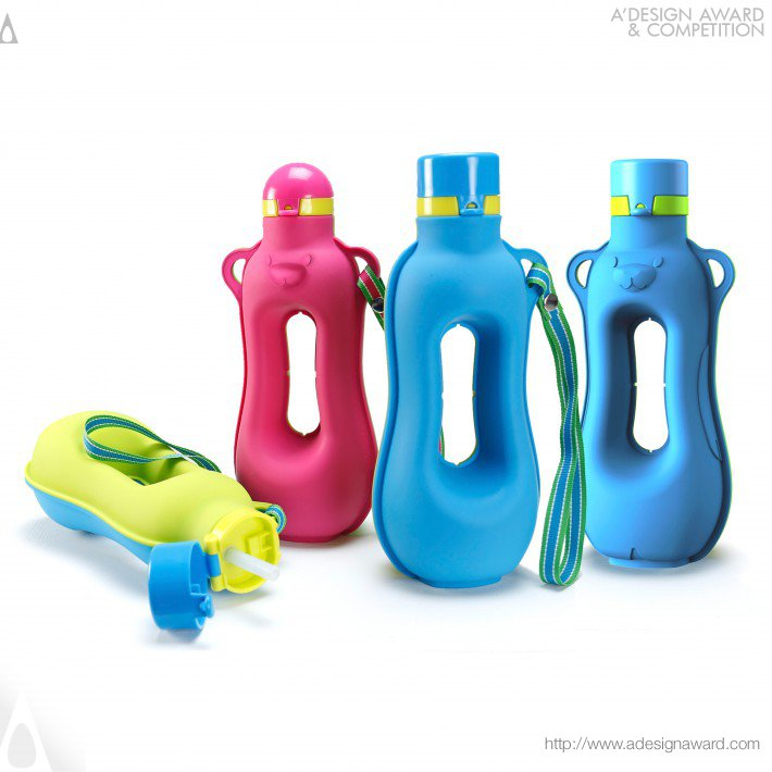 Happy Aquarius (Workout Silicone Water Bottle Design)