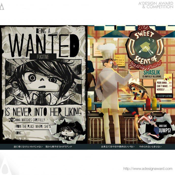 Posterrific Adventure of Anna Warrick (Typographic Illustrated Story Book Design)