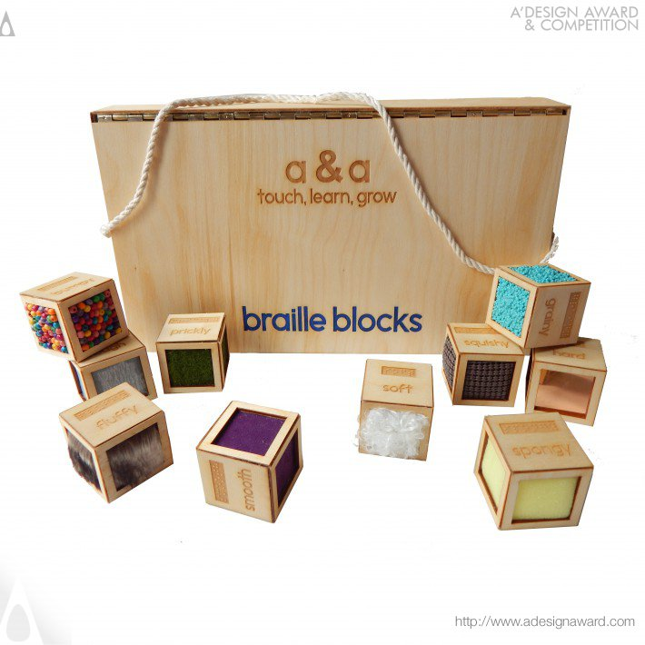 Braille Blocks Toy by Alessandra D'Alessio & Alyssa Vani