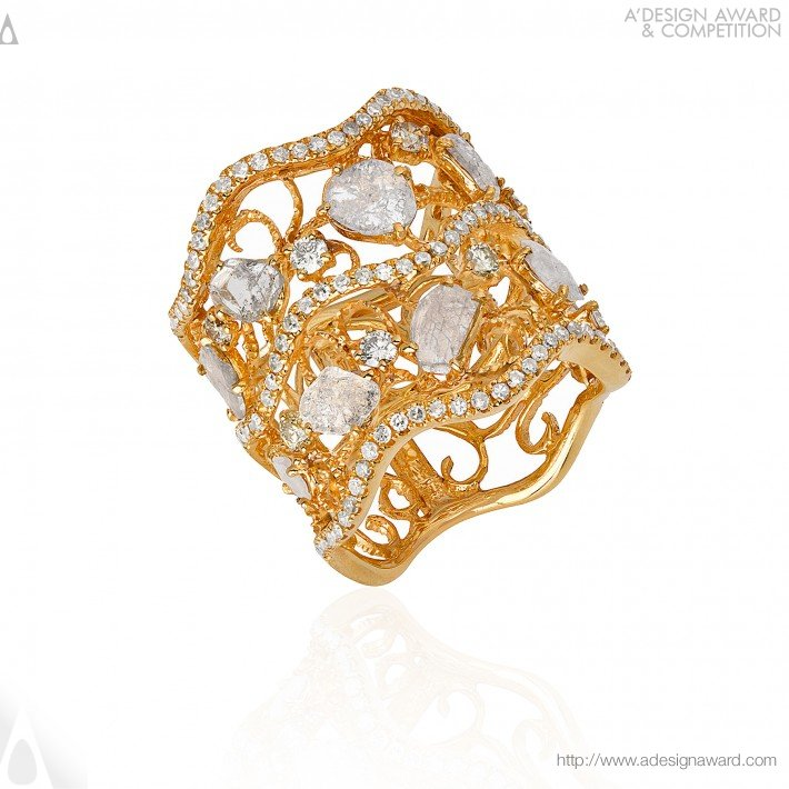 A Design Award and petition Ete Slice Diamond Ring Band