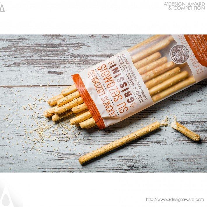 Birzu Duona – Grissini (Bread Sticks Design)