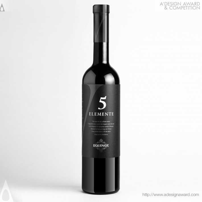 5 elemente wine label design