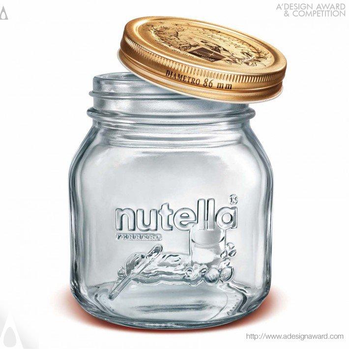 Embossed Nutella (Jar For Spreadable Cream Design)