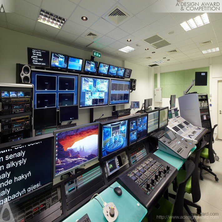 Ashgabat Tele-Radio Center ( Tv Tower) (Production/Post Production/Broadcasting Design)