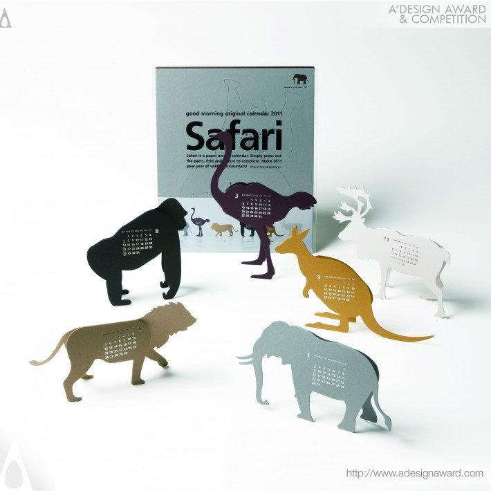 Good Morning Original Calendar 2011-Safari (Calendar Design)