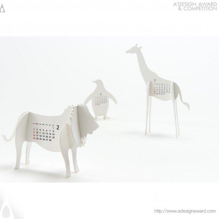 """Calendar 2014 """"zoo"""" (Calendar Design)"""