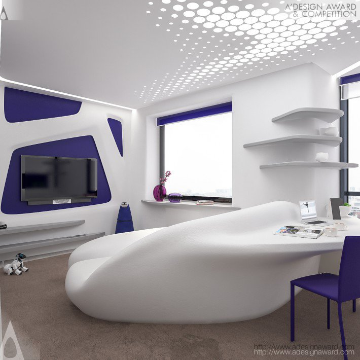 Alex Bazyl - Violet Crystal Mini Apartment