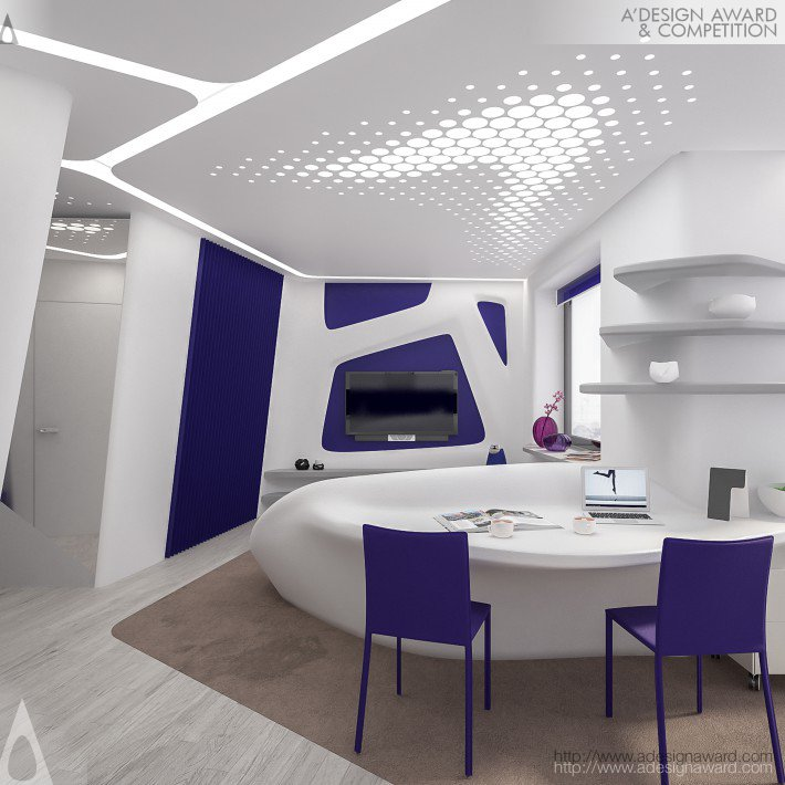 Violet Crystal Mini Apartment by Alex Bazyl