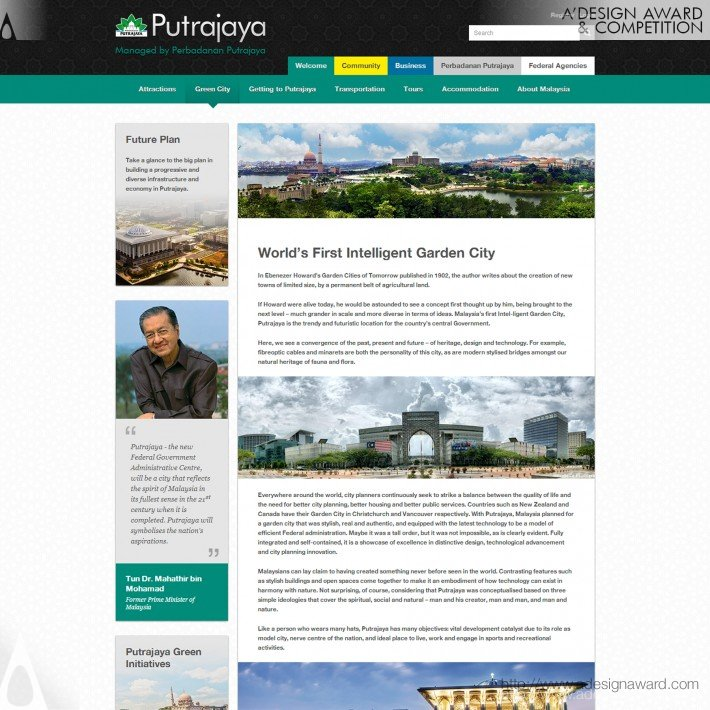 World Wide Web Domination - Perbadana Putrajaya Portal Website