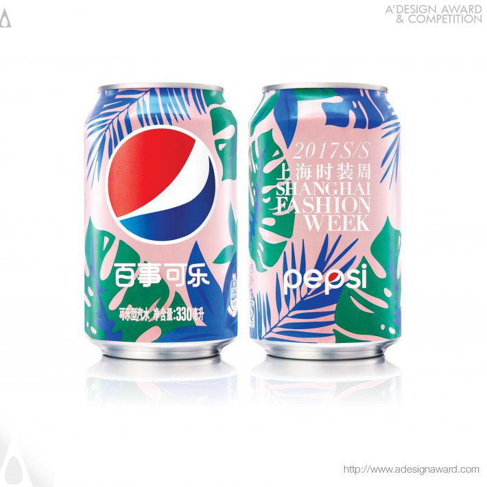 Pepsi X Shanghai Fashion Wk Ss17 Ltd Ed Aluminum Can Graphics by PepsiCo Design & Innovation