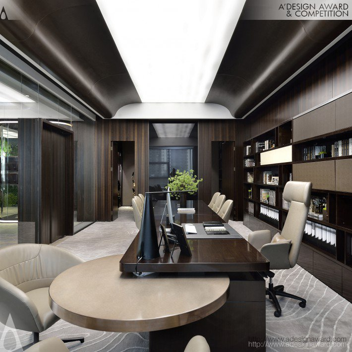 Zh/Cifi Square Modeling Finance Office (Office Work, Convention Design)
