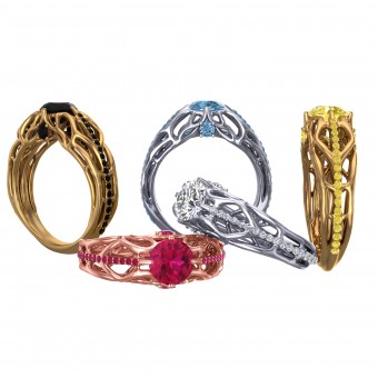 Biomedical Engagement Ring Jewelry- Ring