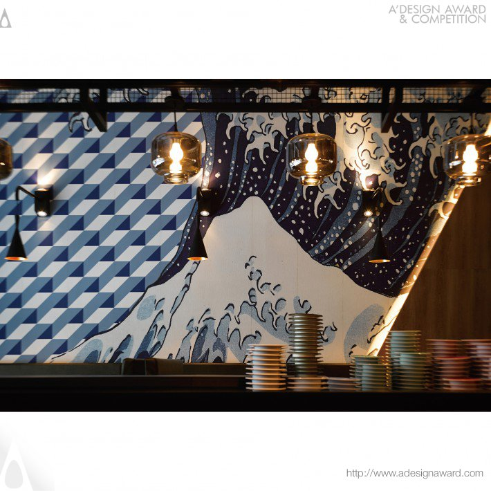 Japanese Sushi Restaurant by Ahead Concept Design