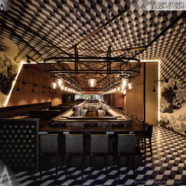 The Origins of Style Japanese Sushi Restaurant by Ahead Concept Design
