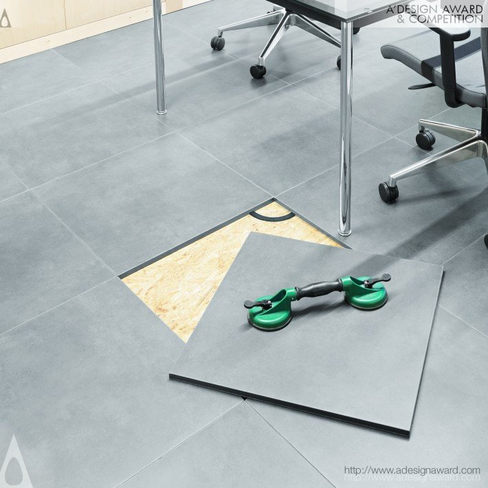 A Design Award And Competition Revicomfort Floor Tile Press Kit - Place and press floor tiles
