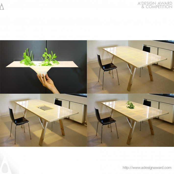 Dining Table and Beyond (Table With Adjustable Tabletop Design)