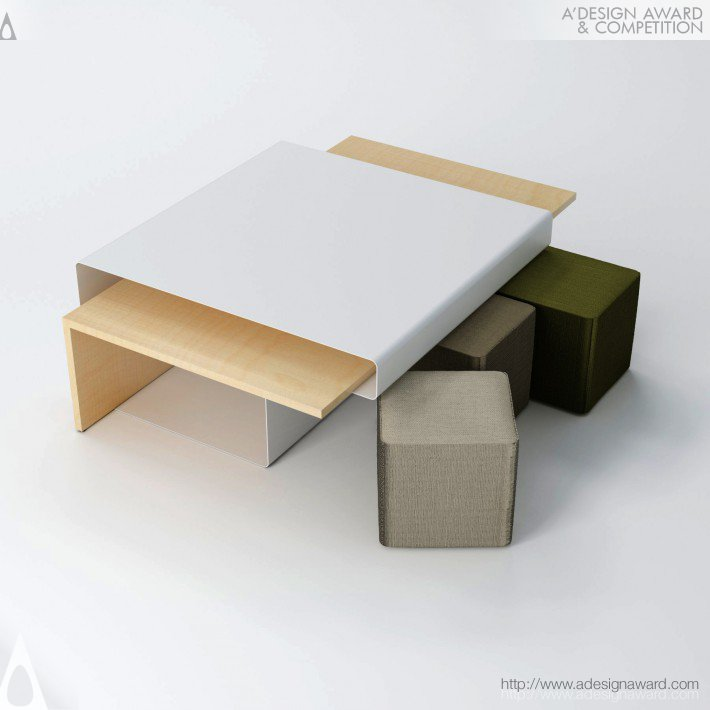 Sliding Table (Side Table For a Living Area Design)