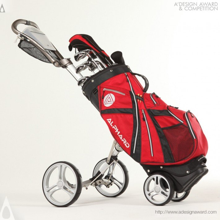 Alphard Duo Golf Cart (Golf Bag & Push Cart Combination Design)